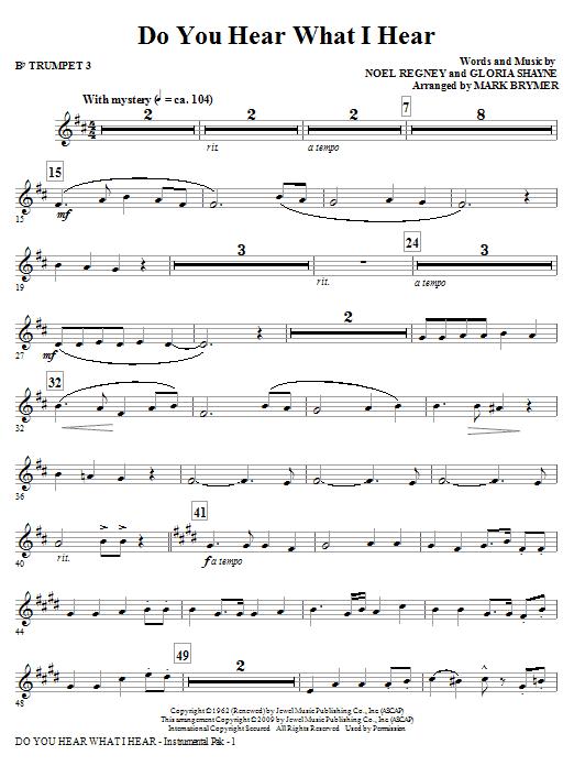 Do You Hear What I Hear? - Bb Trumpet 3 (Choir Instrumental Pak)