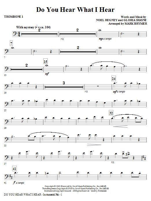 Do You Hear What I Hear? - Trombone 1 (Choir Instrumental Pak)