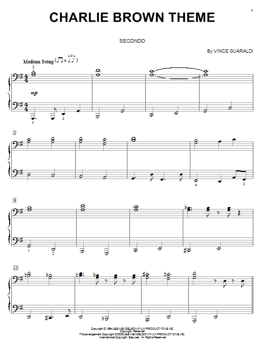 Charlie Brown Theme Sheet Music