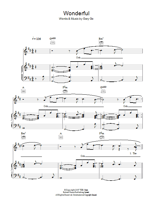 Wonderful Sheet Music