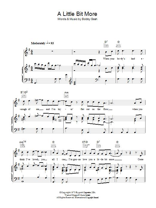 A Little Bit More (Piano, Vocal & Guitar)