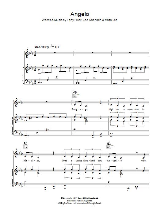 Angelo Sheet Music
