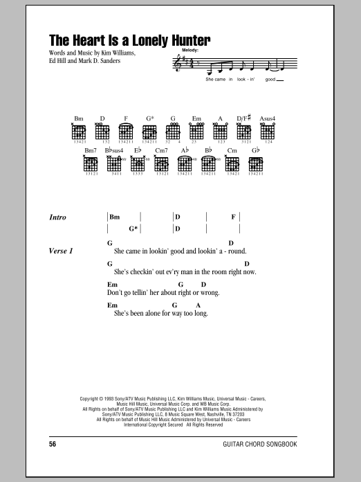 The Heart Is A Lonely Hunter Sheet Music