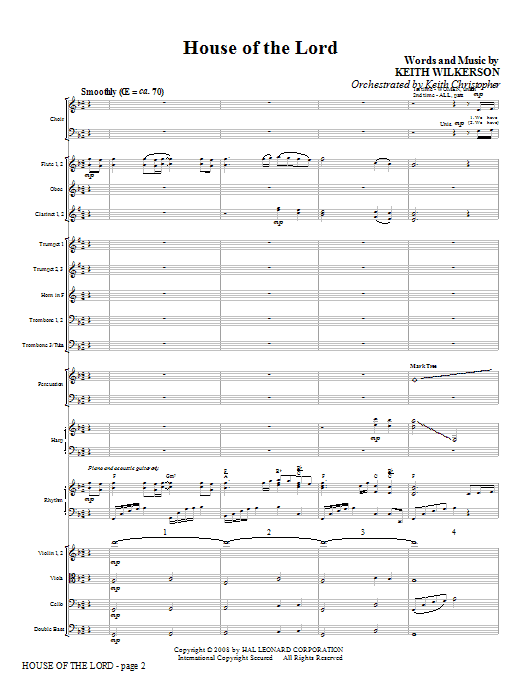 House Of The Lord (COMPLETE) sheet music for orchestra/band (Orchestra) by Keith Wilkerson. Score Image Preview.