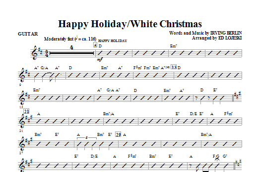 Happy Holiday/White Christmas - Guitar (Choir Instrumental Pak)