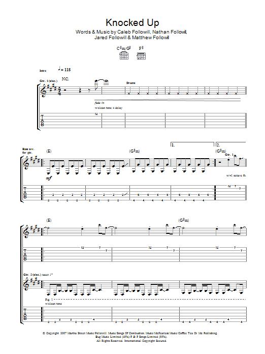 Knocked Up (Guitar Tab)