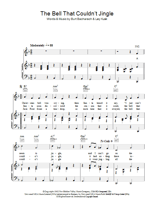 The Bell That Couldn't Jingle (Piano, Vocal & Guitar)