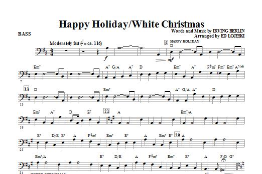 Happy Holiday/White Christmas - Bass (Choir Instrumental Pak)