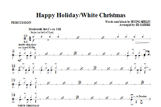 Happy Holiday/White Christmas - Drums (Choir Instrumental Pak)