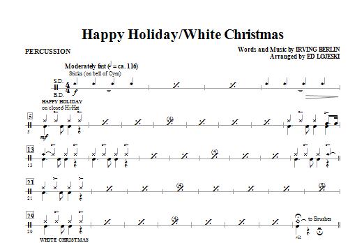 Happy Holiday/White Christmas - Drums (Choir Instrumental Pak)