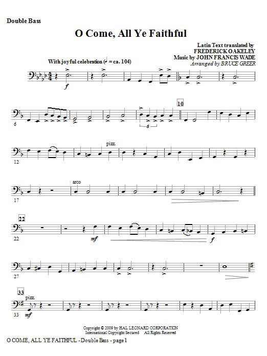 O Come, All Ye Faithful - Double Bass Sheet Music