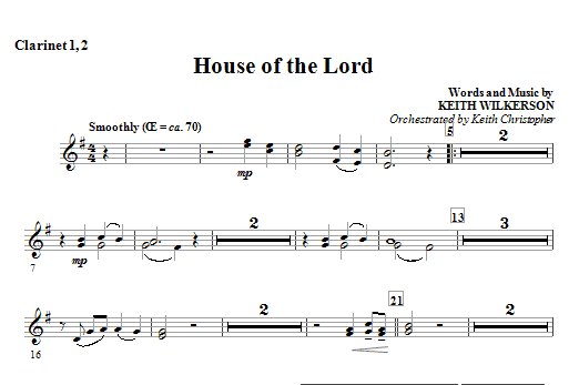 House Of The Lord - Bb Clarinet 1,2 Sheet Music