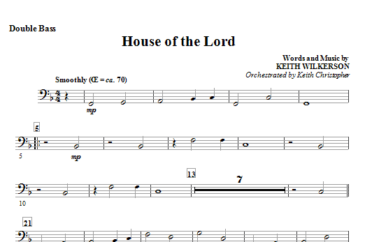 House Of The Lord - Double Bass Sheet Music