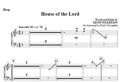 House Of The Lord - Harp Sheet Music