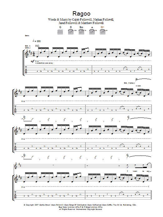 Ragoo (Guitar Tab)