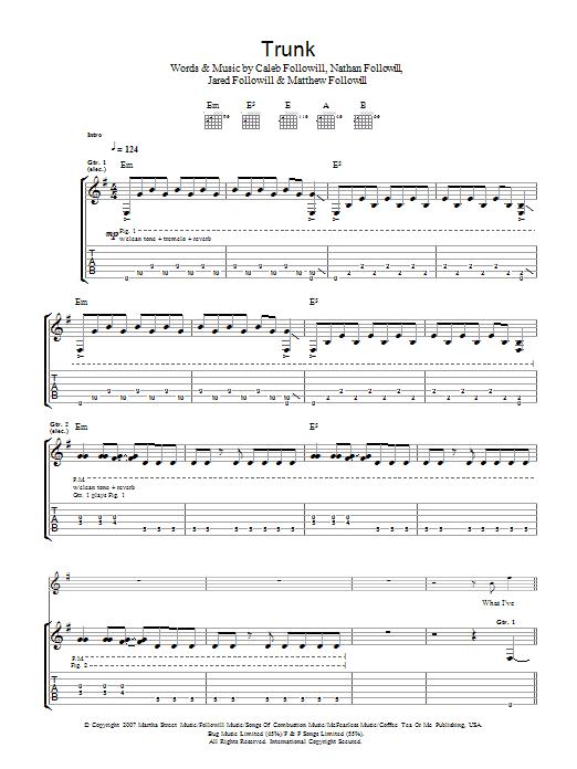 Trunk Sheet Music
