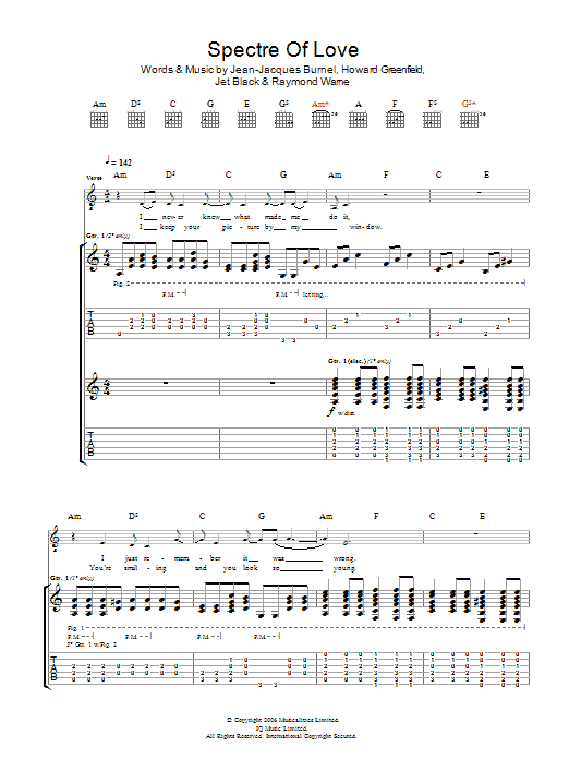 The Spectre Of Love (Guitar Tab)
