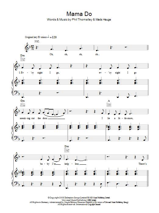 Mama Do (Piano, Vocal & Guitar)