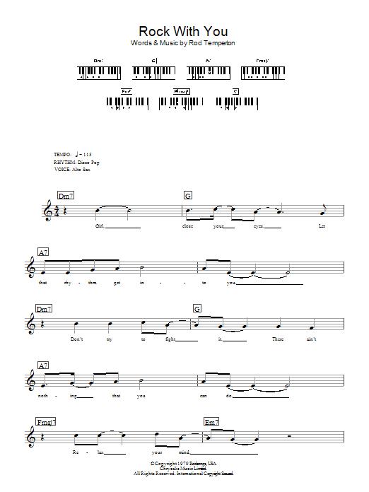 Rock With You (Piano Chords/Lyrics)