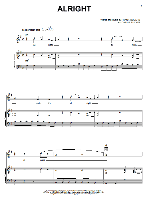 Alright Sheet Music