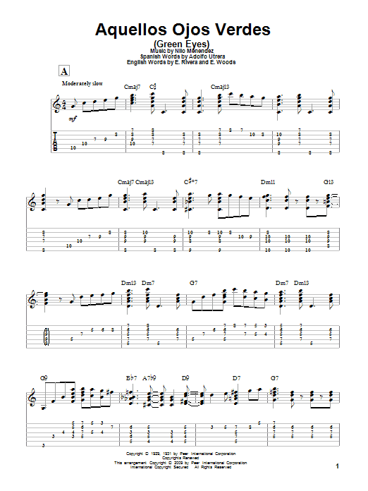 Latin Standards - Jazz Guitar Chord Melody Solos Sheet Music by ...