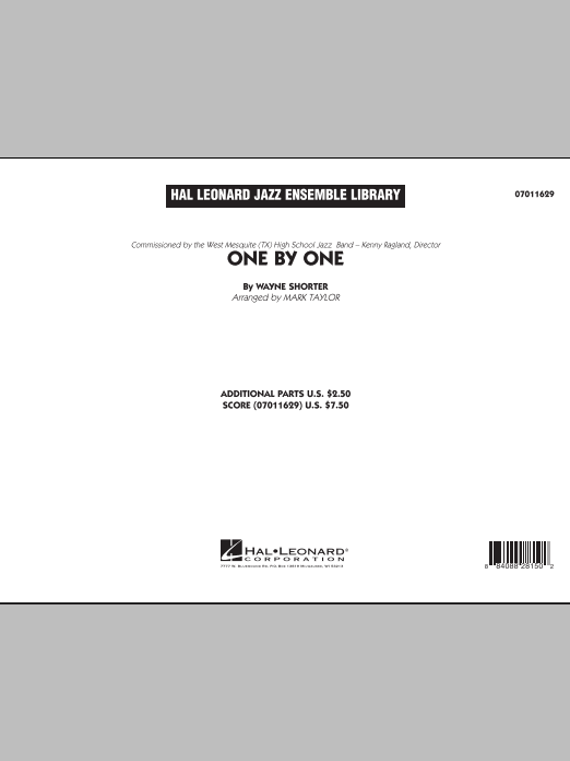 One by One (COMPLETE) sheet music for jazz band by Mark Taylor and Wayne Shorter. Score Image Preview.