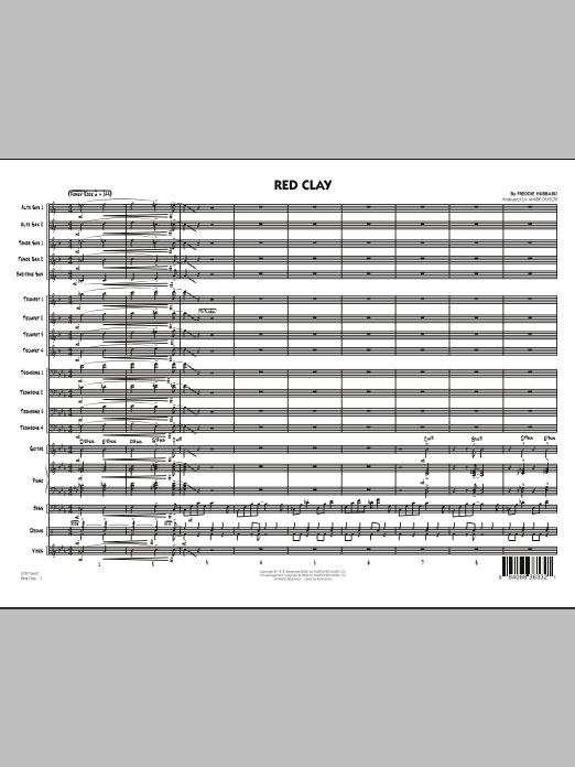 Red Clay - Conductor Score (Full Score) (Jazz Ensemble)