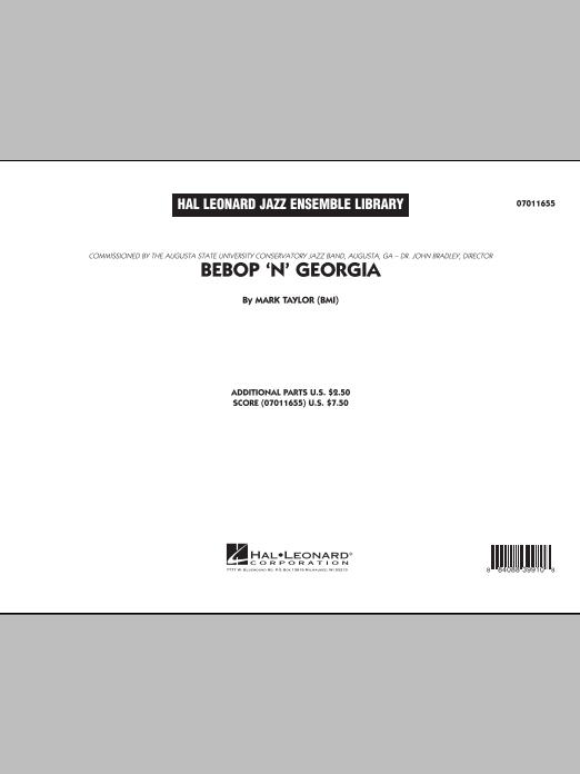 Bebop 'n' Georgia (COMPLETE) sheet music for jazz band by Mark Taylor. Score Image Preview.