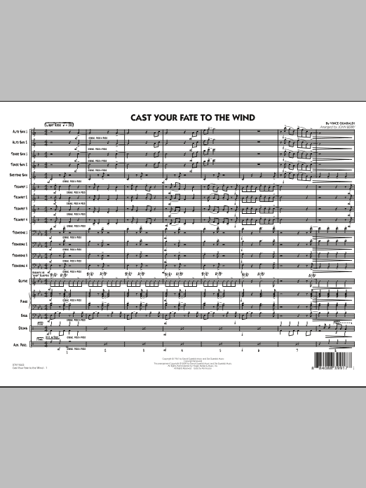 Cast Your Fate to the Wind - Full Score (Jazz Ensemble)