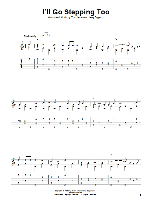 Tablature guitare I'll Go Stepping Too de Flatt & Scruggs - Tablature Guitare