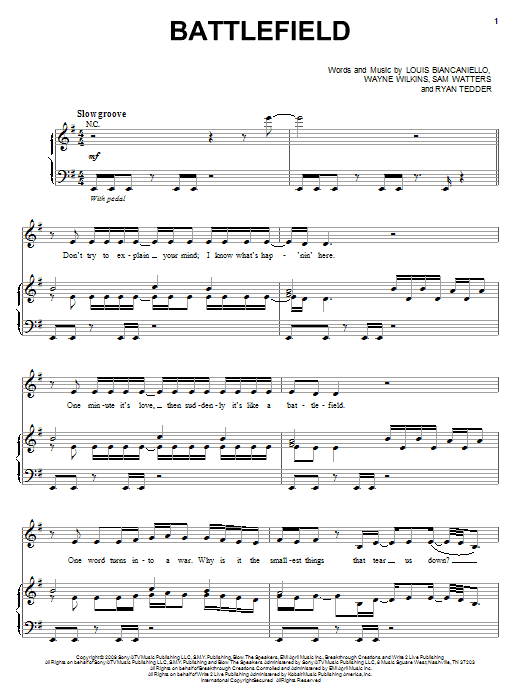 Battlefield Sheet Music