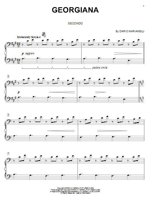 Georgiana Sheet Music