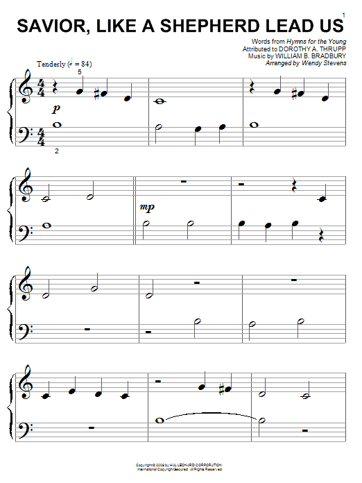 Savior, Like A Shepherd Lead Us Sheet Music