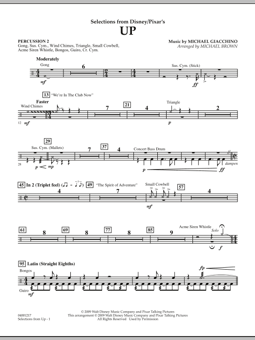 Selections from Up - Percussion 2 (Concert Band)