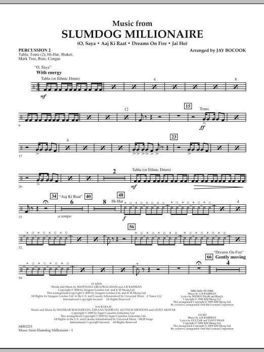 Music from Slumdog Millionaire - Percussion 2 (Concert Band)