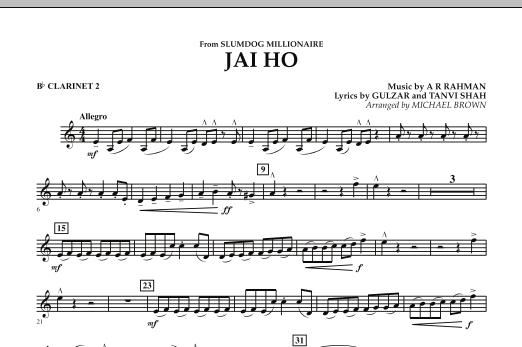 "Jai Ho (from ""Slumdog Millionaire"") - Bb Clarinet 2 (Concert Band)"