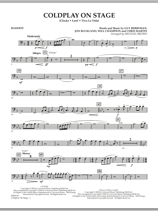 Coldplay on Stage - Bassoon (Concert Band)