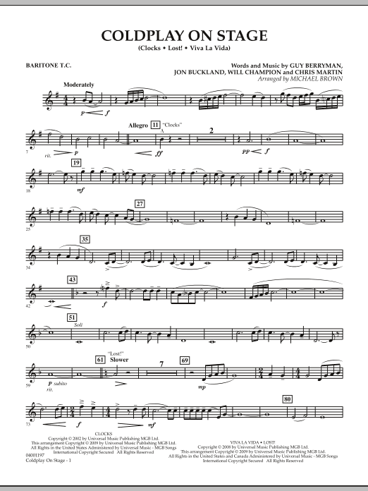 Coldplay on Stage - Baritone T.C. (Concert Band)