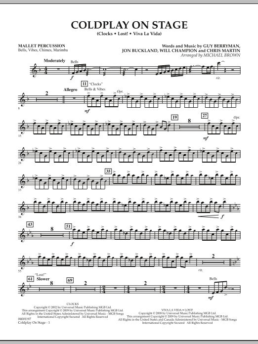 Coldplay on Stage - Mallet Percussion (Concert Band)