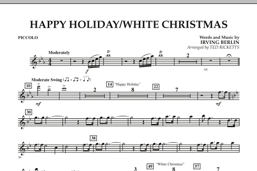 Happy Holiday/White Christmas - Piccolo (Concert Band)
