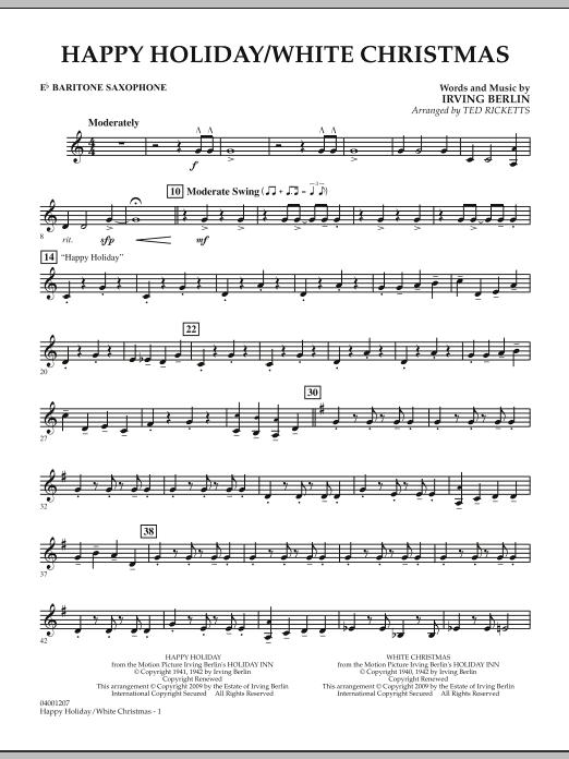 Happy Holiday/White Christmas - Eb Baritone Saxophone (Concert Band)
