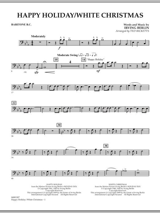 Happy Holiday/White Christmas - Baritone B.C. (Concert Band)