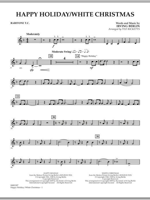 Happy Holiday/White Christmas - Baritone T.C. (Concert Band)