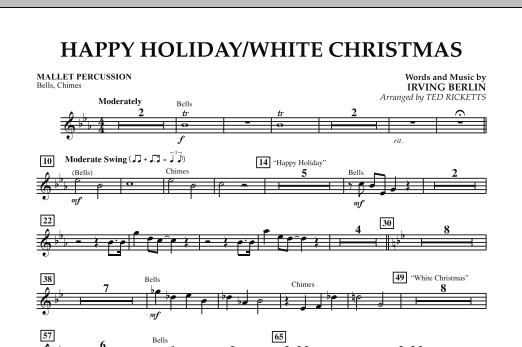 Happy Holiday/White Christmas - Mallet Percussion (Concert Band)