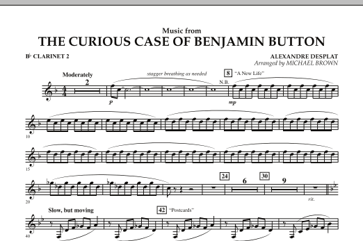 Music from The Curious Case of Benjamin Button - Bb Clarinet 2 (Concert Band)