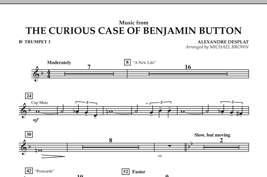 Music from The Curious Case of Benjamin Button - Bb Trumpet 3 (Concert Band)