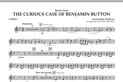 Music from The Curious Case of Benjamin Button - F Horn 1 (Concert Band)