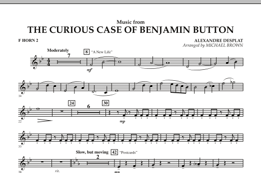 Music from The Curious Case of Benjamin Button - F Horn 2 (Concert Band)