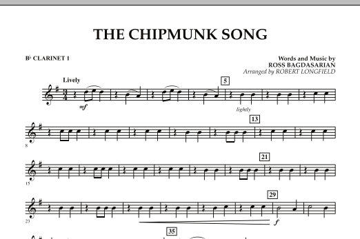 The Chipmunk Song - Bb Clarinet 1 (Concert Band)