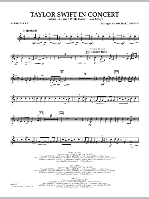 Taylor Swift - In Concert - Bb Trumpet 2 (Concert Band)